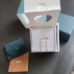 NIB! AURATE NYC sway medium gold chain earrings